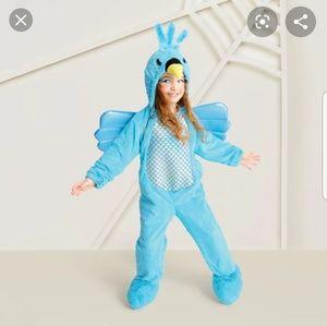 Hummingbird blue plush toddler costume